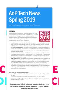 AoP Tech News Spring 2019