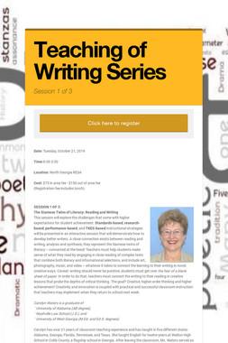 Teaching of Writing Series