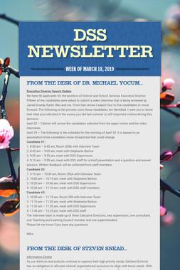 DSS Newsletter