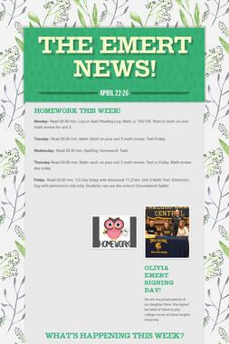 The Emert News!
