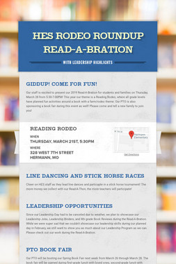 HES Rodeo Roundup Read-A-Bration
