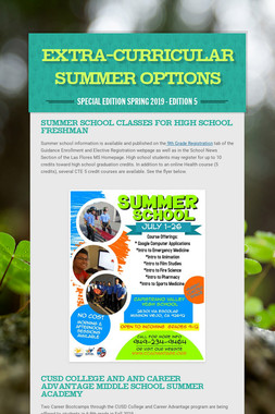 Extra-Curricular Summer Options