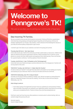 Welcome to Penngrove's TK!
