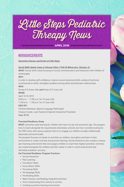 Little Steps Pediatric Threapy News