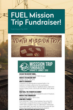 FUEL Mission Trip Fundraiser!