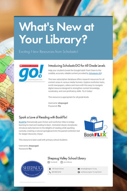 What's New at Your Library?