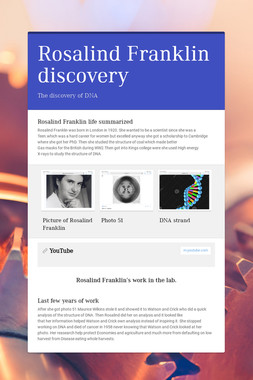 Rosalind Franklin discovery