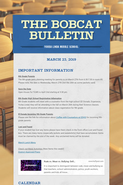 The Bobcat Bulletin