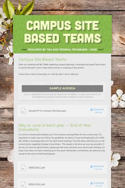 Campus Site Based Teams