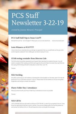 PCS Staff Newsletter 3-22-19