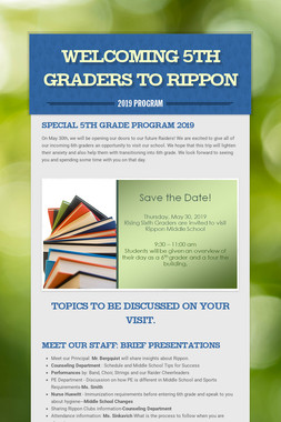 Welcoming 5th Graders to Rippon