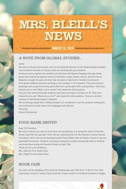 Mrs. Bleill's News