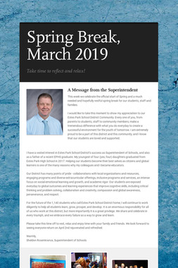 Spring Break, March 2019
