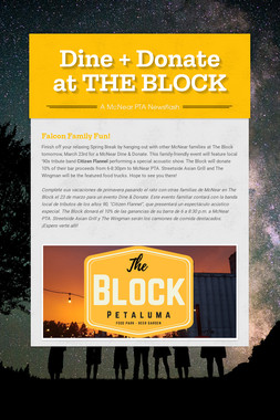 Dine + Donate at THE BLOCK