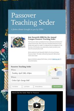 Passover Teaching Seder