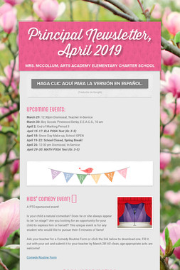 Principal Newsletter, April 2019