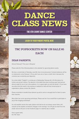 Dance Class News
