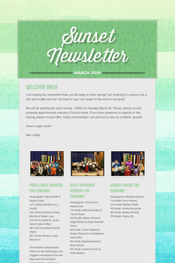 Sunset Newsletter