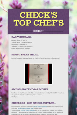 Check's top Chef's