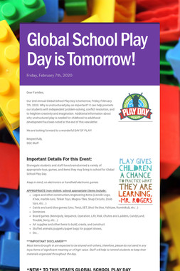 Global School Play Day is Coming!