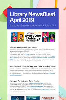 Library NewsBlast April  2019
