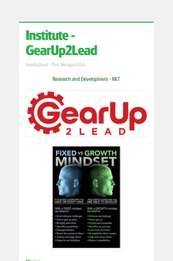 Institute - GearUp2Lead