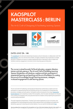 KAOSPILOT MASTERCLASS : BERLIN