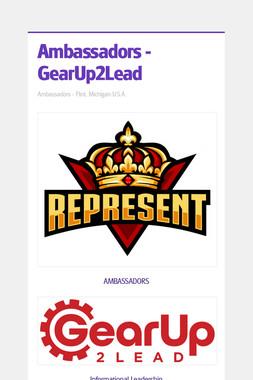Ambassadors - GearUp2Lead