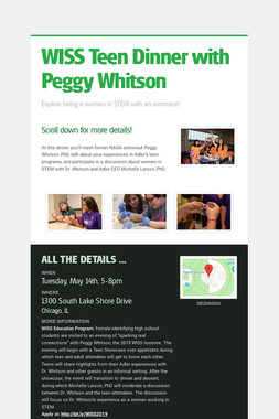 WISS Teen Dinner with Peggy Whitson