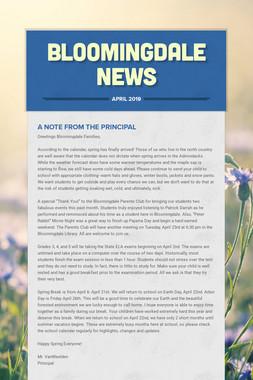 BLOOMINGDALE NEWS