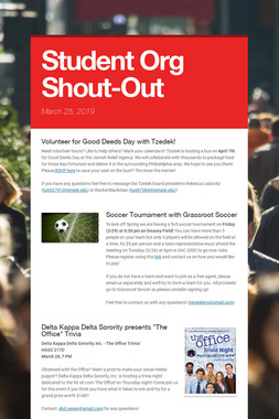 Student Org Shout-Out