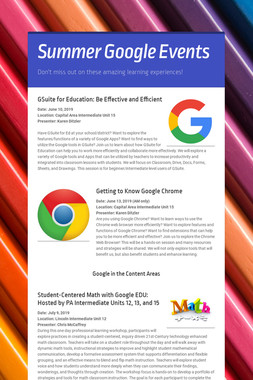 Summer Google Events