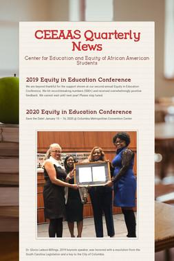 CEEAAS Quarterly News