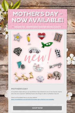 Mother's Day - Now Available!