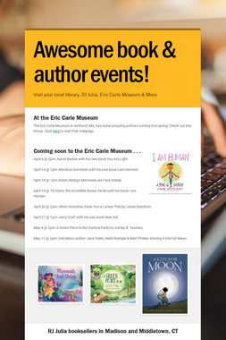 Awesome book & author events!