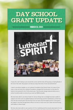 Day School Grant Update