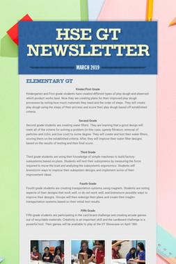 HSE GT Newsletter