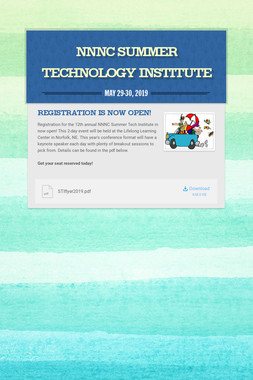 NNNC Summer Technology Institute