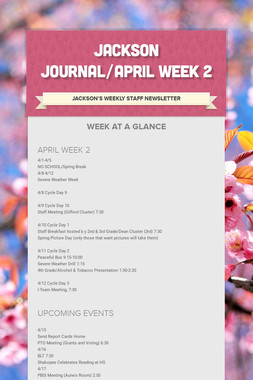 JACKSON JOURNAL/APRIL WEEK 2