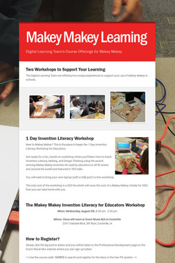 Makey Makey Learning
