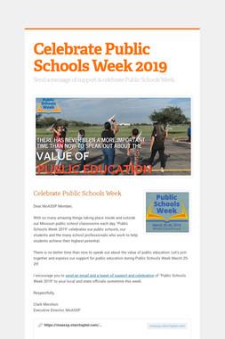Celebrate Public Schools Week 2019
