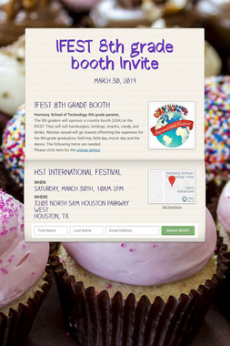 IFEST 8th grade booth Invite
