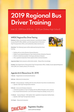 2019 Regional Bus Driver Training