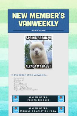 New Member's VanWeekly