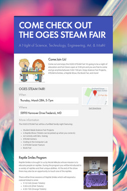 COME CHECK OUT THE OGES STEAM FAIR