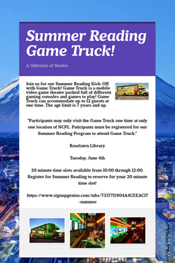 Summer Reading Game Truck!