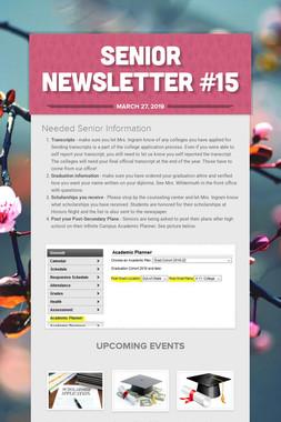 Senior Newsletter #15
