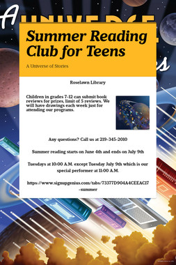 Summer Reading Club for Teens