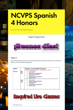 NCVPS Spanish 4 Honors