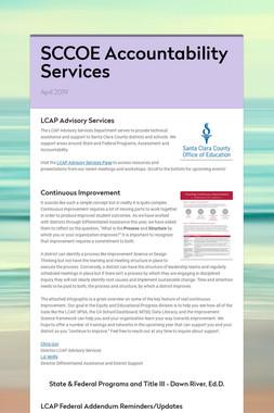 SCCOE Accountability Services